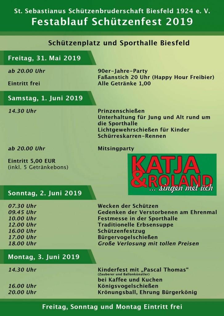 Festablauf Schützenfest 2019
